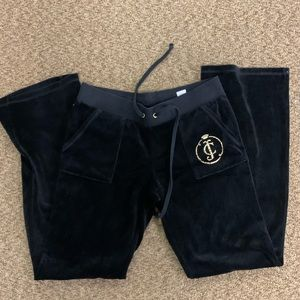 Juicy Couture black and gold velvet sweats size M